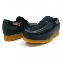 British Collection Power Old School Slip On Navy/Navy