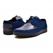 "British Collection ""Bristols"" Navy Leather and Suede"