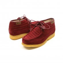 British Collection Castle-Burgundy Suede High top lace up