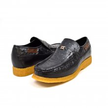 "British Collection ""Harlem"" Black Ostrich Leather"