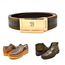 "Matching Belt for Style - ""Harlem"" Olive/Green Ostrich Leather"