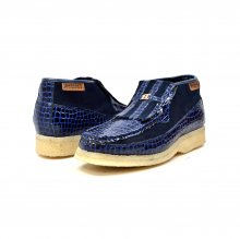 British Collection Apollo Croc-Navy Suede and Croc
