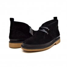 "British Collection ""Cambridge"" Black Leather and Suede"
