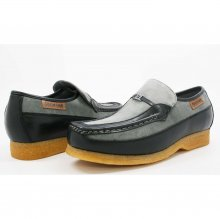 British Collection Power Old School Slip On Grey/Black Shoes