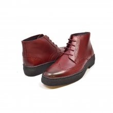 British Collection Wingtip Limited Wine Leather