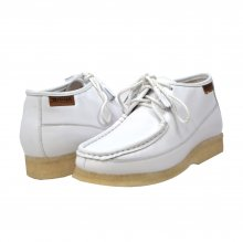 British Collection Knicks White Leather Lace up