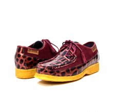 British Collection Crown Croc-Burgundy Suede and Croc