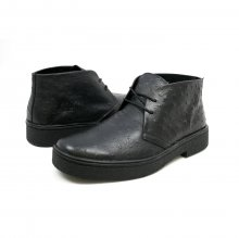 Classic Playboy Chukka Boot Black Ostrich Leather