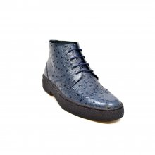 British Collection Light Blue Ostrich Leather Wingtip Playboy