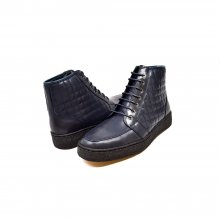 "British Collection ""Extreme"" Navy Leather High Top w/Crepe Sole"