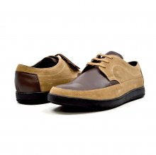"British Collection ""Bristols"" Tan Suede and Brown Leather"