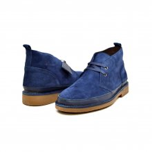 "British Collection ""Cambridge"" Navy Leather and Suede"