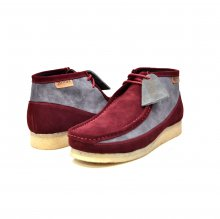 "British Collection ""Walkers""-Burgundy/Grey suede"