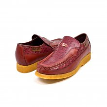 "British Collection ""Harlem"" Burgundy Ostrich Leather"