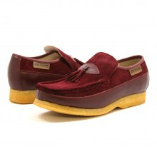 British Collection King Old School Slip On Burgundy Su/Le shoes