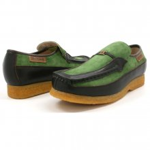 British Collection Power Old School Slip On Green/Brown Shoes