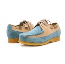 British Collection Crown-Powder Blue/Beige Suede