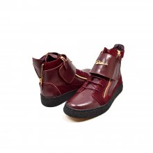 "British Collection ""Empire"" High Top Burgundy Leather and Suede"