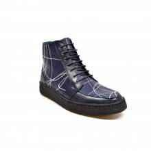 "British Collection ""Extreme"" Navy Leather w/linear design"