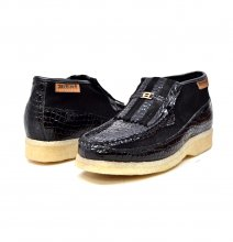 British Collection Apollo Croc-Black Suede and Croc