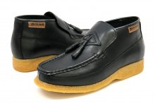 British Collection Classic Black Leather Slip-on with Tassle