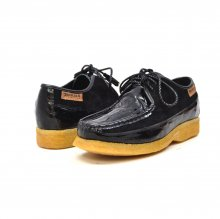 British Collection Crown Croc-Black Suede and Croc
