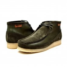 "British Collection ""Walkers""-Green Leather and Suede"