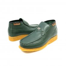 British Collection BWB-Green Leather Slip-on