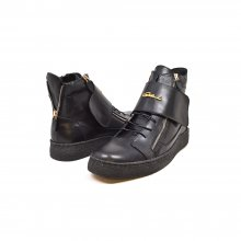 "British Collection ""Empire"" Black Leather High Top w/Crepe Sole"