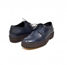 British Collection Wingtips lowcut Navy Leather