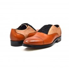 "British Collection ""Albert"" 3 Tone cognac, tan, black leather"
