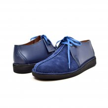 "British Collection ""Kingston,"" Blue Leather and Suede"