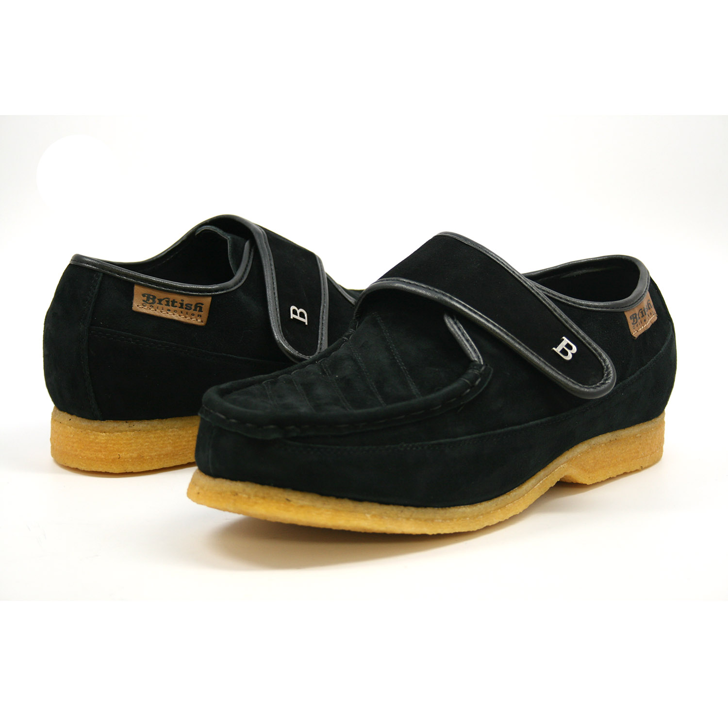 British Collection Royal Old School Slip On Black Suede  126-01  -  99.99   British  Walk ff5de79d7