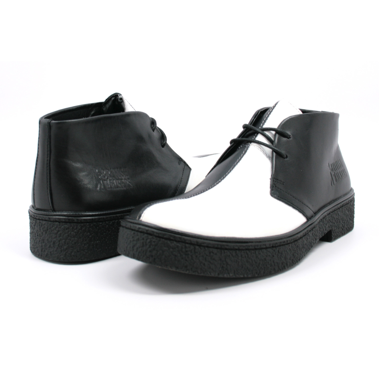 dc5c504317 Classic Playboy Chukka Boot Black White Split Toe -  99.99   British Walk