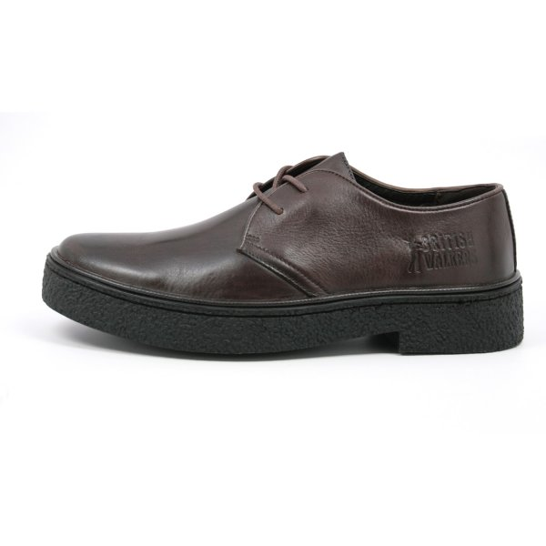 British Collection Men's Playboy Low Cut Brown Leather ...