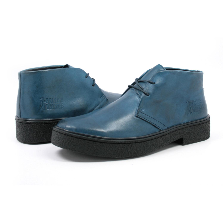 338823e251 Classic Playboy Chukka Boot Denim Blue Leather -  99.99   British Walk