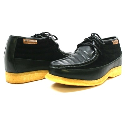 British Collection Castle Black Suede/Black Leath Lace Up