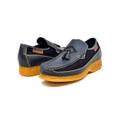 British Collection Brooklyn I Navy Leather and Suede