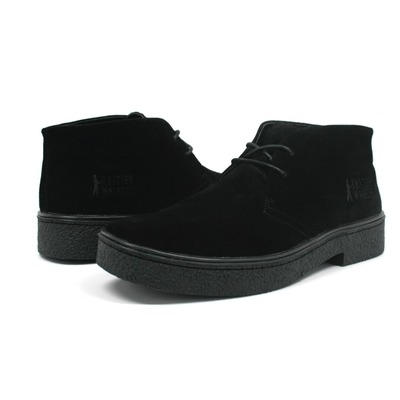 Classic Playboy Chukka Boot Black Suede