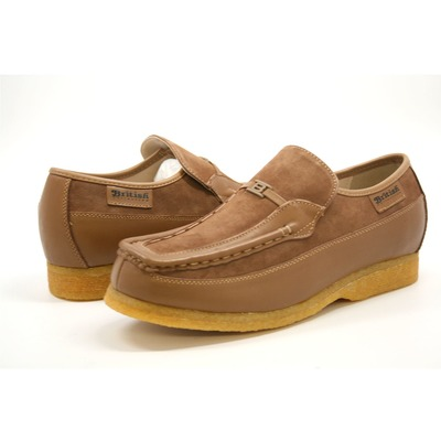 British Collection Power Old School Slip On Tan Leather/ Suede