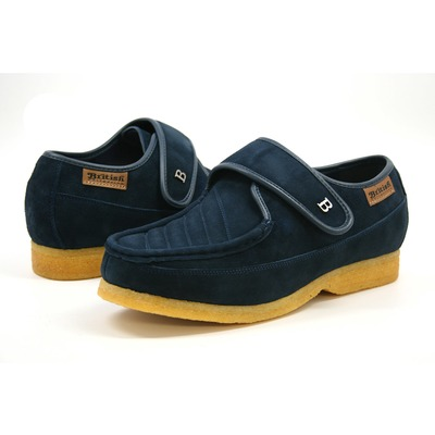 British Collection Royal Old School Slip On Navy Suede