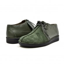 "British Collection ""Kingston,"" Green Suede/Green Lthr Split-Toe"