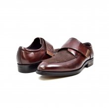 "British Collection ""Master"" Brown Leather and Pony Skin Velcro"