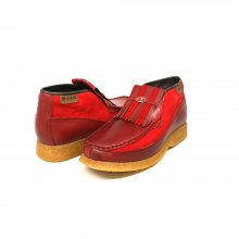 British Collection Apollo 2 Cherry Leather and Suede