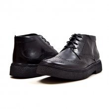 "Classic Playboy ""Classic"" Wingtip Black Leather-TPR"