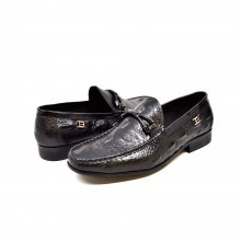 "British Collection ""Leon"" Black Slip-on Leather"