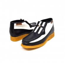British Collection Apollo 2 Black Leather and White Suede
