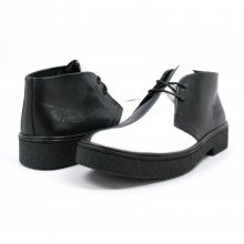 Classic Playboy Chukka Boot Black/White Split Toe