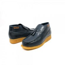 British Collection Classic Navy Leather Slip-on with Tassle