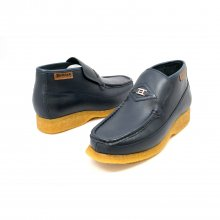 British Collection BWB-Navy Leather Slip-on